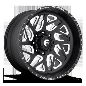 Fuel Forged Concave FFC51D - Concave Super Single Front 8 Matte Black & Milled