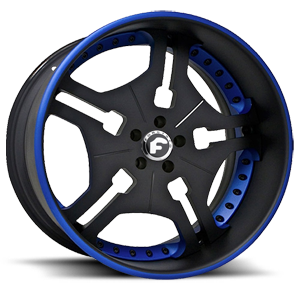 FIA Black/Blue Center, Black/Blue Lip 5 lug