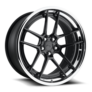 Fiorano Gloss Black with Chrome Lip 5 lug