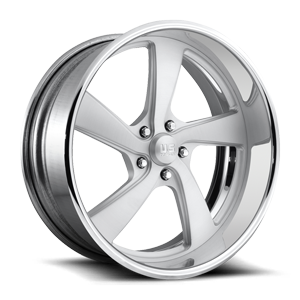 FLARE 5 - U489 Brushed Matte Clear w/ Polished Lip 5 lug