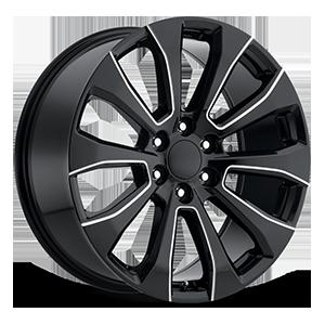 Style 92 Gloss Black Milled 6 lug