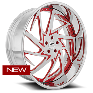 Ferrato Brushed and Red 5 lug