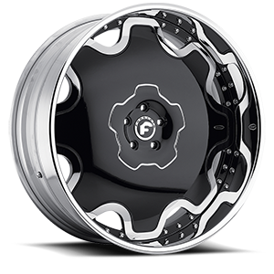 FIORE Black/Chrome Center, Chrome Lip 5 lug