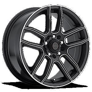 Focal 425 F03 5 Satin Black with Diamond Cut Accents