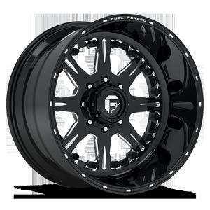 FF25 Gloss Black & Milled 8 lug