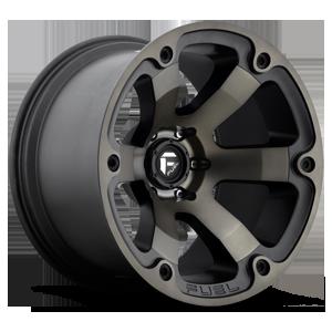 Beast - D564 Black & Machined with Dark Tint 6 lug