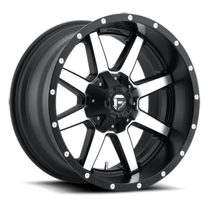 Maverick - D537 Black & Machined 5 lug