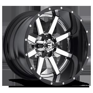 Fuel 2-Piece Wheels Maverick - D260 5 Chrome with Gloss Black Lip