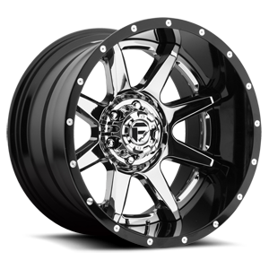 Rampage - D247 Chrome Center and Gloss Black Outer 5 lug