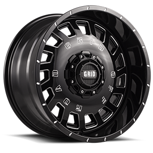 Grid GD3 5 Gloss Black with Milling
