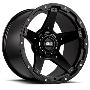GD4 Matte Black 5 lug