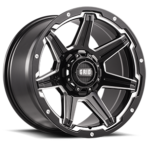 Grid GD6 5 Gloss Black with Milling