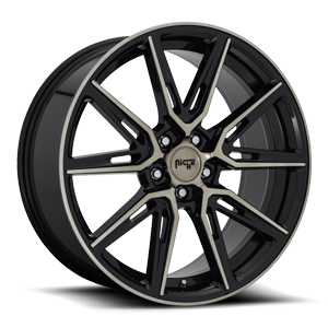 Gemello - M219 20x9 | Gloss Black & Machined DDT 5 lug
