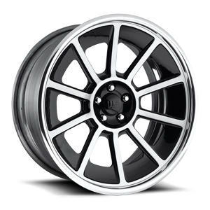 General - U545 Brushed / Gloss Black 5 lug
