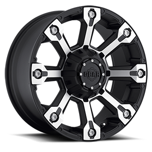 719 Backcountry Machined Face with Carbon Black Accents 5 lug