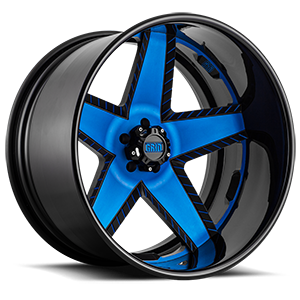 GF9 Matte Black with Blue Accents 5 lug