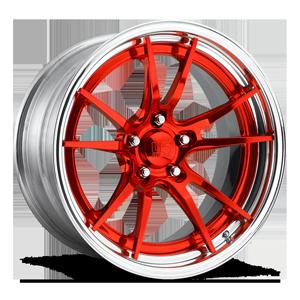 Grand Prix Concave - U537 Candy Red w/ Polish Lip 5 lug