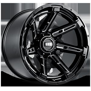 Grid GD12 6 Gloss Black Milled