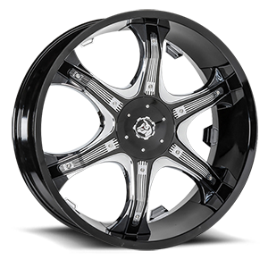 Diablo Wheels Grill 5 Black w/ Chrome Inserts