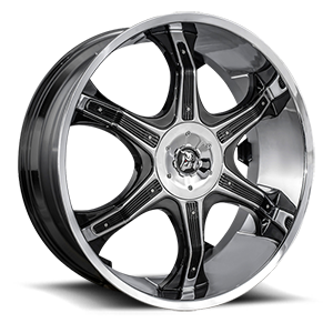 Diablo Wheels Grill 5 Chrome w/ Black Inserts