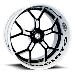 GTR Black/White Center, Custom Lip 5 lug