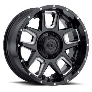 743 Armor Gloss Black Milled Spokes 5 lug