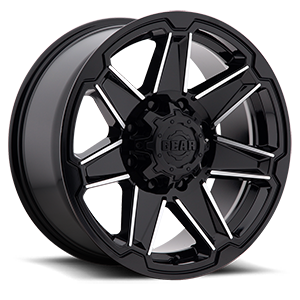 745 Trident Gloss Black with Mirror Machined Spoke Accents 8 lug