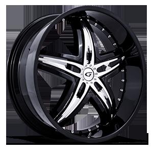 Gianna Wheels Blitz 5 Black w/ Chrome Inserts