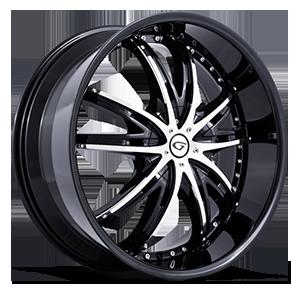 Gianna Wheels Crown 5 Black w/ Chrome Inserts