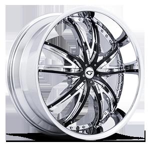 Gianna Wheels Crown 5 Chrome w/ Black Inserts
