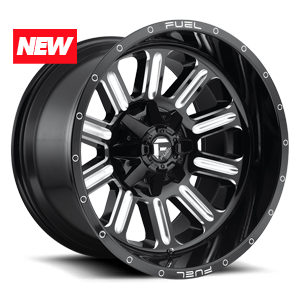 Hardline - D620 Gloss Black & Milled 5 lug