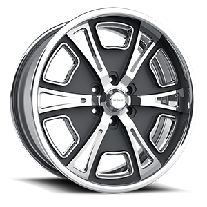 HR 6 Gunmetal Polished 6 lug