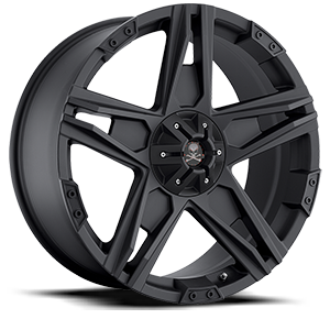 Hollywood (S109) Matte Black 5 lug