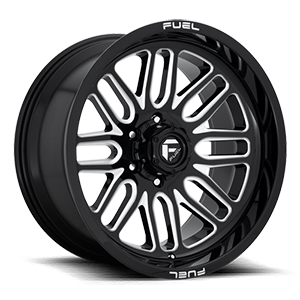 Ignite - D662 Gloss Black & Milled 6 lug