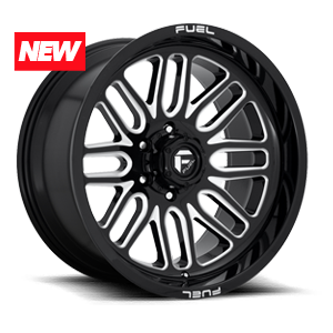 Ignite - D662 Gloss Black & Milled 5 lug