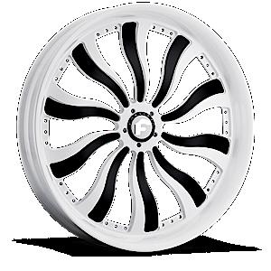 INFERNO-i Black And White 8 lug