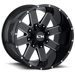 Ion Alloy Wheels 141 6 Gloss Black Milled