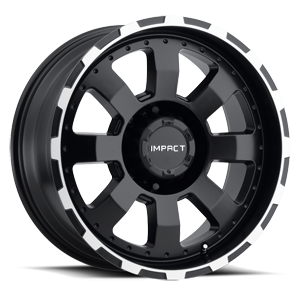 Impact Wheels Destroyer 8 Black Machined Edge
