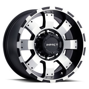 Impact Wheels Destroyer 8 Black Machined Face 17in