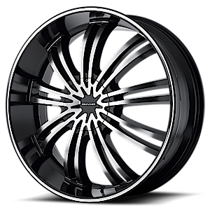 KMC Wheels KM682 Spider 6 Gloss Black Machined