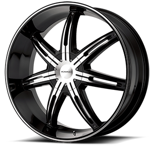 KMC Wheels KM665 Surge 5 Gloss Black Machined