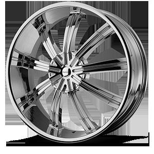 KMC Wheels KM672 Widow 6 Chrome