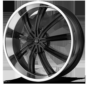 KMC Wheels KM672 Widow 6 Gloss Black w/Machine