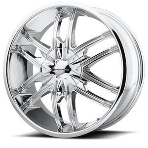 KMC Wheels KM678 Splinter 6 Chrome