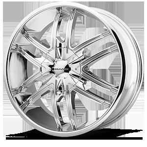 KMC Wheels KM678 Splinter 6 Chrome