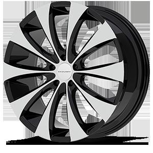 KMC Wheels KM679 Fader 5 Gloss Black w/Machine