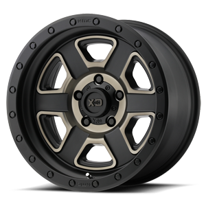 XD Series by KMC XD133 Fusion Off-Road 5 Satin Black Machined w/ Dark Tint Clear Coat