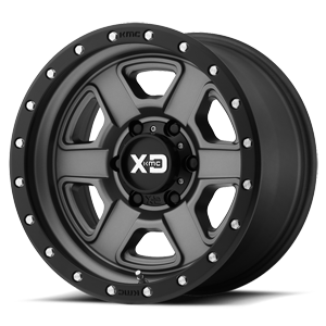 XD Series by KMC XD133 Fusion Off-Road 6 Satin Gray w/ Satin Black Lip