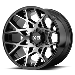 XD831 Chopstix Gloss Black Machined 6 lug