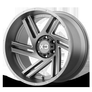 XD835 Swipe Satin Grey Milled 6 lug